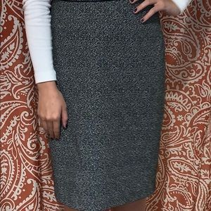 Calvin Klein black and white pencil skirt